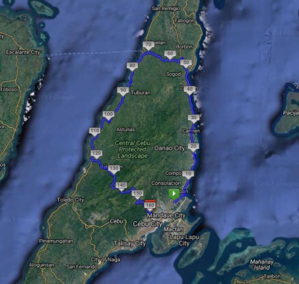 2017 Cebu 100 Miles Route